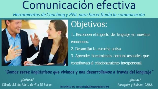 Taller Comunicación efectiva - Sábado 22 de abril