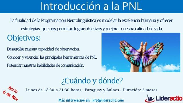 Flyer - Curso Introducción a la PNL