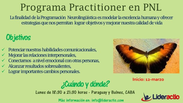 Flyer II - Practitioner en PNL 2018