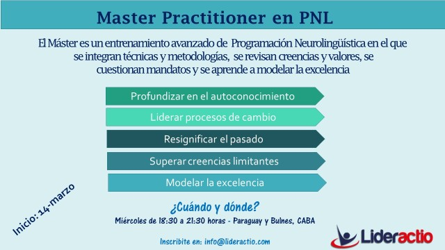 Flyer - Master Practitioner en PNL 2018