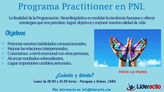 Flyer I - Practitioner en PNL 2018