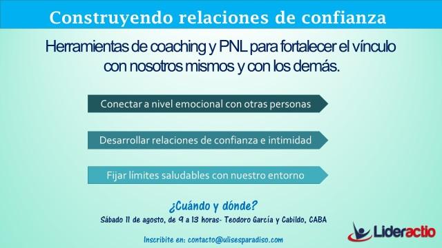 Flyer - Taller Construyendo relaciones de confianza