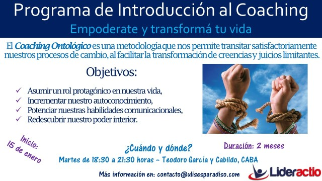 Flyer Intro al Coaching (Enero 2019)