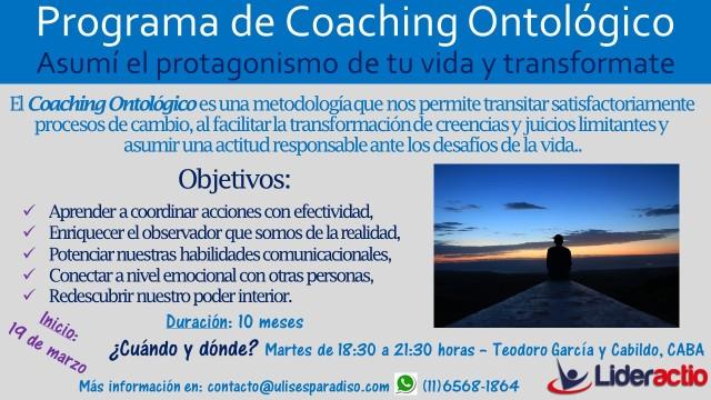 Flyer III Coaching ontológico Profesional (Edición 2019)