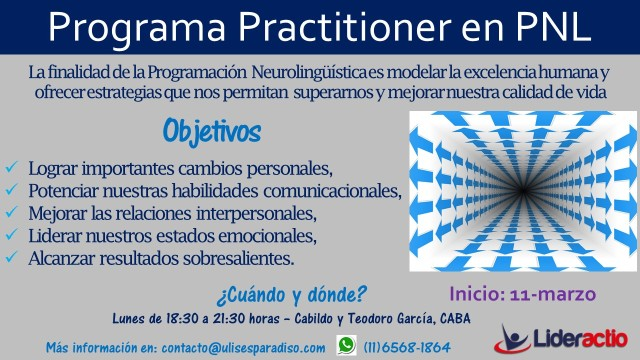 Flyer IV - Practitioner en PNL 2019