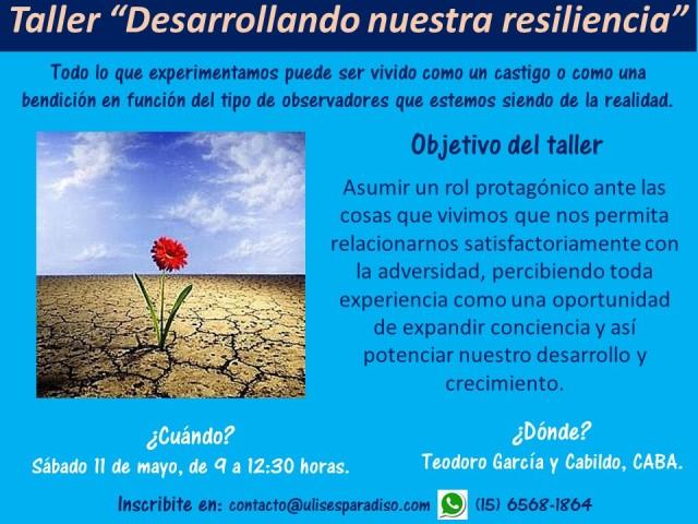 Taller Desarrollando nuestra resiliencia - Sab 11 de mayo de 2019