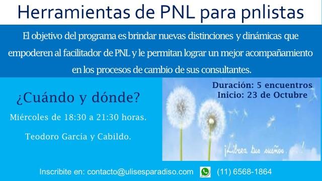Flyer - Curso Herramientas de PNL para pnlistas - Octubre 2019