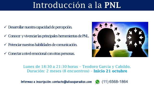 Flyer II - Curso Introducción a la PNL - Octubre 2019